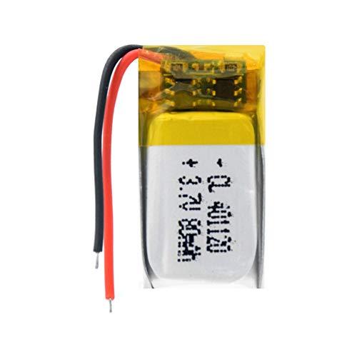TTCPUYSA 3.7v 80mah 401120 Batería De Iones De Litio De PolíMero De Lipo, Recargable para Auriculares Bluetooth Selfie Stick Mp3 GPS 1Pc
