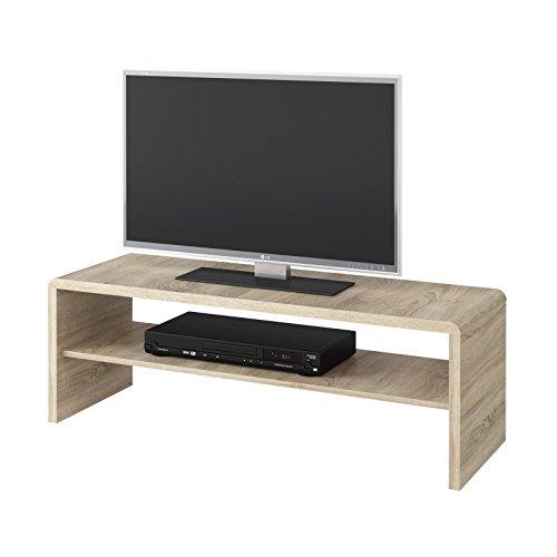 CARO-Möbel Couchtisch TV Lowboard Fernsehtisch Lexa, in Sonoma Eiche, 120 x 40 cm, mit Ablagefach