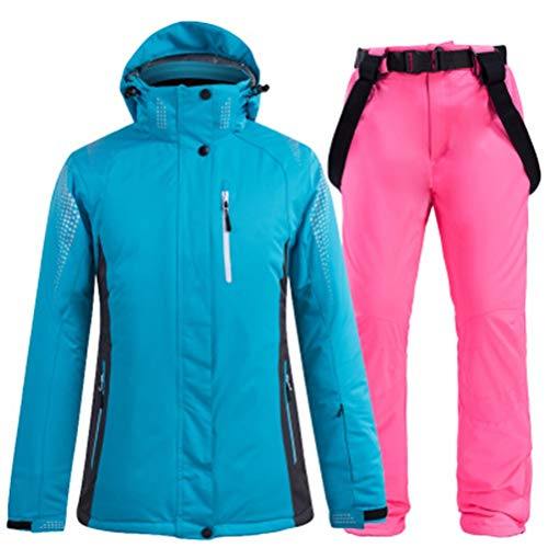 Hbao Damen Herren Skibekleidung Snowboardjacke Hose Unisex Skibekleidung Winddicht und wasserdicht Outdoor Sportswear Liebhaber Winter (Color : Red, Size : XX-Large)