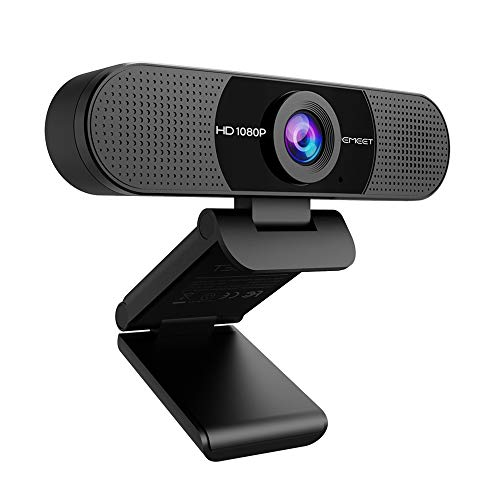 Web Camera, eMeet C960 Webcam, HD1080P, 2 Million Pixels, 90° Wide Angle, High Definition Computer Camera, Wide Size, Built-in Microphone, Skype Conference PC Camera, Windows 10/8/7, Mac OS X, Youtube, Skype