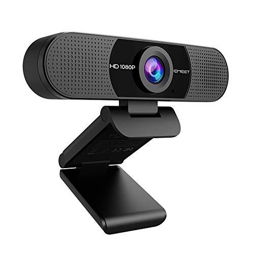 WEBカメラ eMeet C960 ウェブカメラ HD1080P 200万画素 高画質パソコンカメラ ワイドサイズ対応 内蔵マイク...
