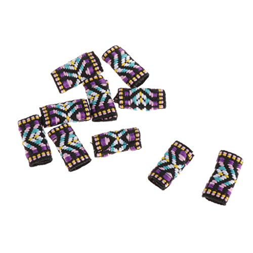 MERIGLARE 10 Sortes Colorées Dreadlock Perles Anneaux De Cheveux Tresses Bracelet Pendentifs Charmes - 10