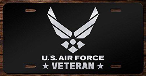 United States Air Force Veteran Emblem Vanity Front License Plate Tag KCE100