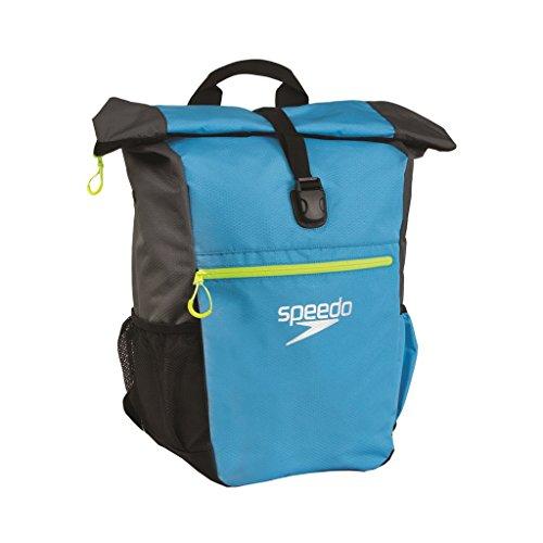 Speedo Erwachsene Tasche Team Rucksack III, blau (Japan Blue/Oxid Grey/Fluo Yellow), 27 x 15 x 3 cm, 1 Liter