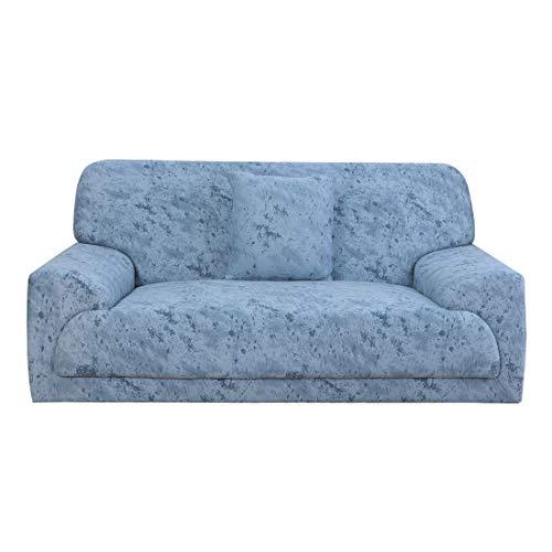 uxcell - Funda de sofá para 1 2, 3 y 4 plazas (poliéster, elástica, antideslizante, 1 pieza, funda de cojín para mascota, diseño con texto '92'-122')