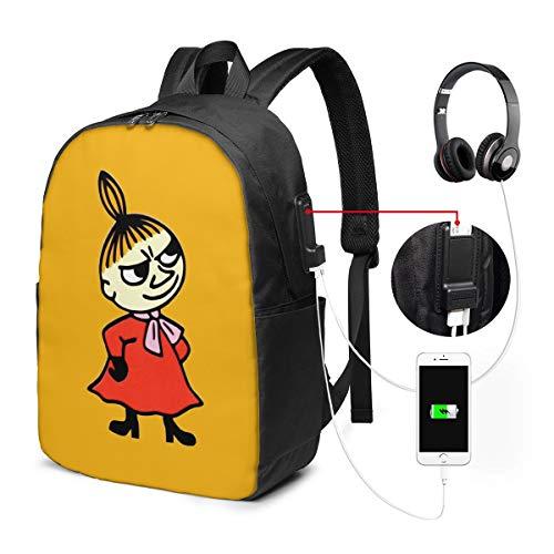 バックパック17インチベルト バックパック ビジネスバックパック ランドセル 登山バッグ ムーミン 充電ポート ヘッドフォンポート ラベル 防水 旅行 ユニセックス 大容量 ストレージレジャー
