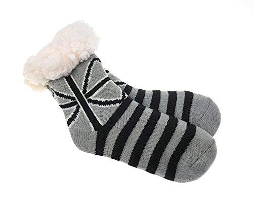 Laake Hütten Socken für Jungen und Mädchen Kinder Home Socks mit Teddyfutter Kuschelsocken Lammfellimitat und ABS-Stopper-Sohle, Größe: 32-35-1, 24/27 - 32/35
