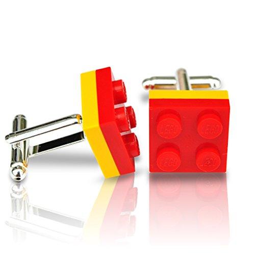 SJP Cufflinks LEGO® placa Gemelos rojo amarillo España