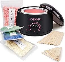 Wax Warmer Kit, KOTAMU Hair Removal Waxing Kit with 4 Hard Wax Beans Target for Bikini Brazilian Full Body Face Facial Eyebrows Legs Armpit, Painless At Home Wax Kit for Women and Men
