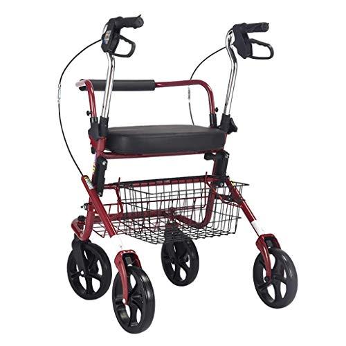 PIVFEDQX Caminante, Andador para Ancianos, Carrito de Compras, Scooter, Caminante para Ancianos, Caminante Puede Sentarse, bastón Antideslizante doblado con Hospital