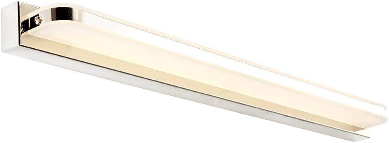 Spiegel Lampe Licht LED Edelstahl wasserdichte Wandleuchte Badezimmer Kristall Spiegel Frontleuchte