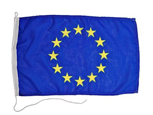 Glac Store® Bandiera Unione Europea Europa 40x60 cm in Tessuto Nautico Resistente alle Intemperie Antivento per Barca Gommone Blu e Stelle in Giallo