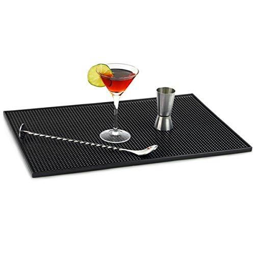 Bar@drinkstuff Barmatte/Abtropfmatte, Gummi, 30,5 x 45,7 cm, Schwarz