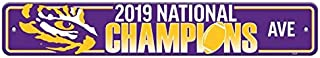 Fremont Die NCAA LSU Tigers 2019 Men's College Football National Champions Street Sign