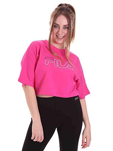 Fila JAMIELLE Wide Cropped T-Shirt, Fuchsia, XS Femme