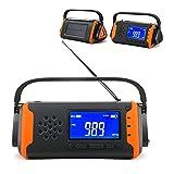 CDPC 5PCS Radio de Emergencia Manivela Solar 4000mAh Impermeable FM Am WB NOAA Radio meteorológica Manivela Radio Solar con Linterna LED Brújula de Alarma SOS para Supervivencia al Aire Libre