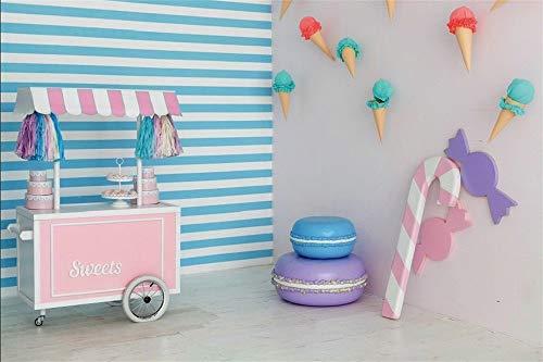 MMPTn 5x3ft Dolci rosa Carrello Candy Bar Interno Baby Shower Puntelli Photo Booth Baby Dream Room Gelato Torte Sfondi Bambini Bambini Festa di compleanno Eventi Foto Sfondo