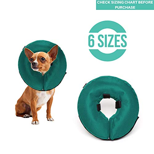 ProCollar Protective Inflatable Recovery Collar for Dogs and Cats - Soft Pet Cone Does Not Block Vision E-Collar - Designed to Prevent Pets from Touching Stitches, Wounds and Rashes (X-Small)