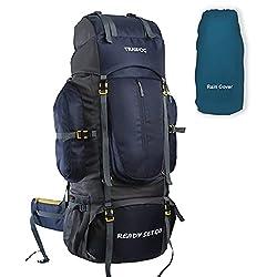 TRAWOC 80 Liter Travel Backpack for Outdoor Sport Camp Hiking Trekking Bag Camping Rucksack BHK001 1 Year Warranty (Navy Blue),TRAWOC