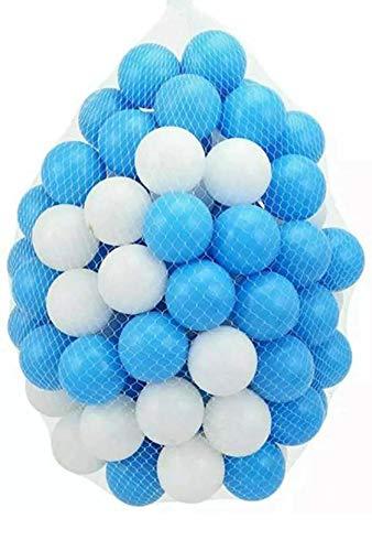 100 bolas de plástico para niños para hoyos de bolas, juguetes azules Colore para jugar a la piscina, pozo de bola suave castillo