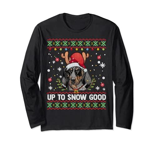 Bluetick Coonhound - Suéter feo de Navidad para perro Manga Larga