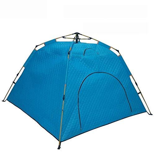 Acampar al aire libre Protección WaterproofUV Tienda de campaña de invierno persona 3-4 automático de velocidad al aire libre abierto Carpa caliente del viento portátil Refugio de pesca de hielo y el