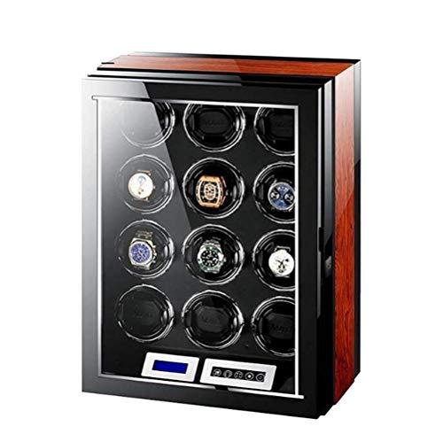YLJYJ Enrollador de Reloj automático para 1 Reloj: Calidad compacta, Caja de enrollador de Reloj Individual, Motor súper silencioso