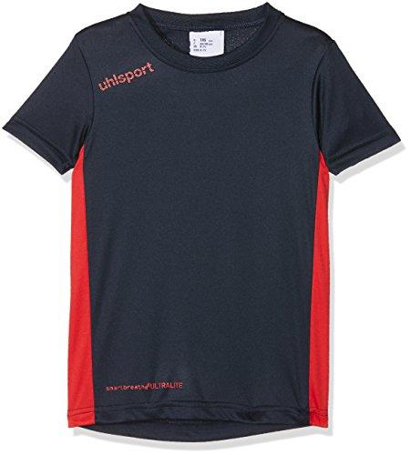 uhlsport Essential T-Shirt Mixte Enfant, Marine/Rouge, FR : XXS (Taille Fabricant : 128)