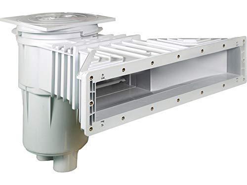 well2wellness® Slim-Line Pool Skimmer ABS 17,5 L - Kunststoff Skimmer für Folienbecken