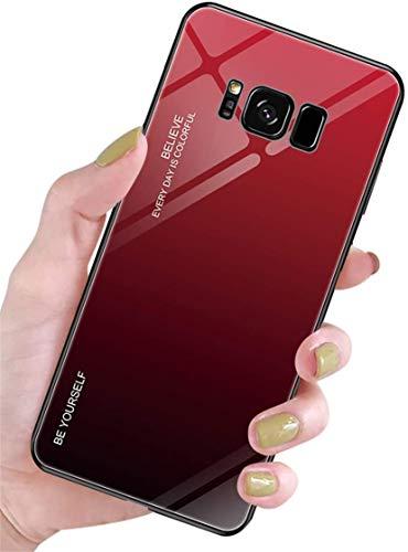 Alihtte Carcasa para Galaxy S8 Plus – Carcasa resistente a los arañazos con suave TPU Bumper + Funda de vidrio templado 9H [Protección híbrida] Carcasa para Samsung Galaxy S8 Plus