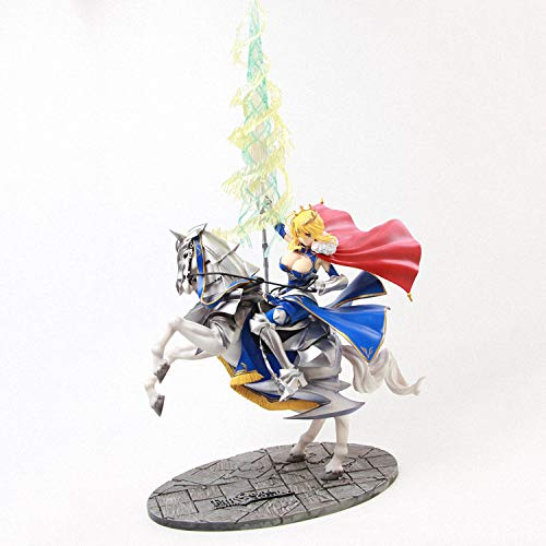 HYHSM Estatua Modelo De Anime Estatua De Anime Sable De Pistola Blanca Lancer Soldado De Pistola De Equitación Altolia Muñeca Móvil De PVC Adornos De Regalo Coleccionables Alto: 45 Cm
