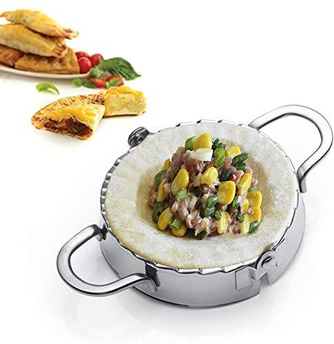 Best Utensils - Molde de acero inoxidable molde para hacer raviolis y empanadillas pierogi, envoltorio para repostería, accesorios cortadores de cocina., acero inoxidable, Plateado, L-12CM