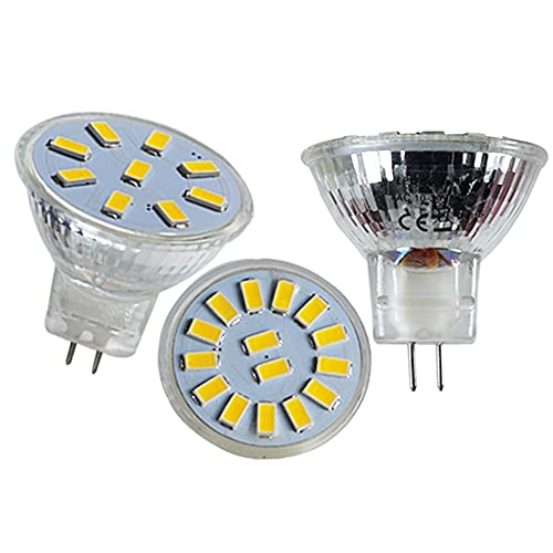 GHC LED Bombillas 1Plack LED Spot Bulb Light Spotlight GU4 MR11 12V 24V 1W 2W Super Copa de Vidrio Diámetro 35 mm CA DC 12 Lámpara de Ahorro de energía de 24 voltios