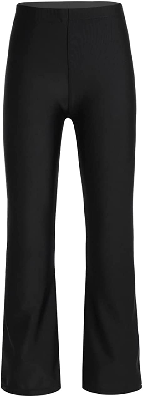 Loloda Kids Girls Basic Classic Stretchy Jazz Pants Boot Cut Hip Hop Latin Dance Trousers Dancewear
