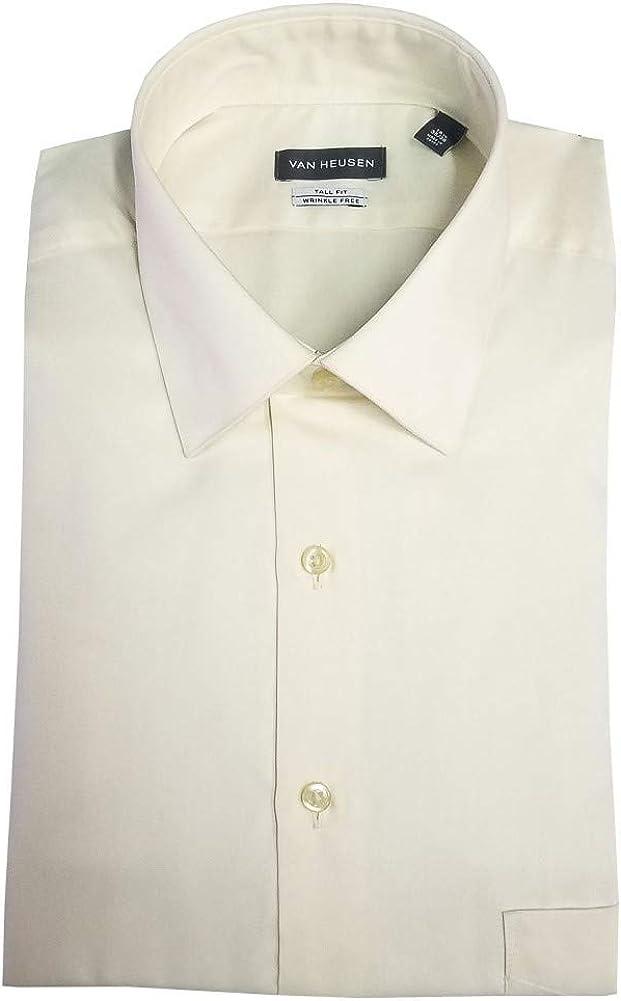 Van Heusen Fitted Lux Sateen Dress Shirt - Almond