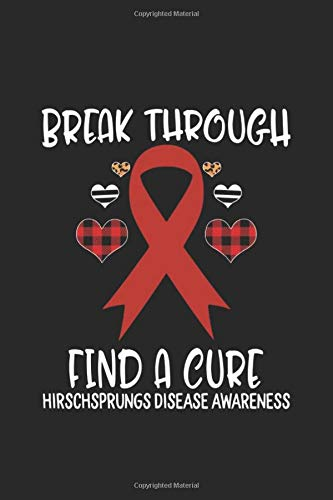Break Through Find A Cure Hirschsprungs Disease Awareness: Ribbon Leopard Buffalo Print Journal