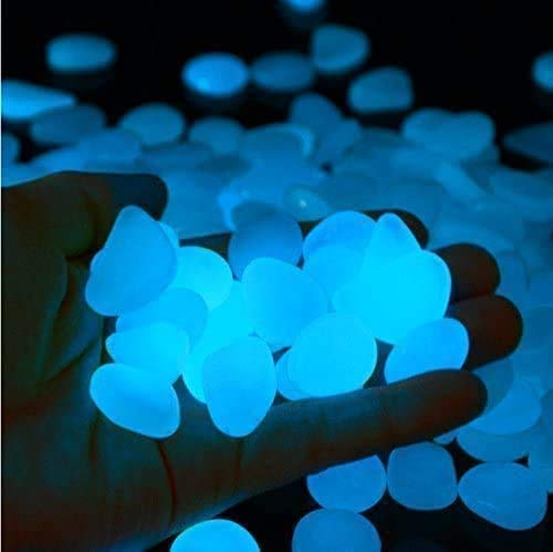 Billencart 100PCS Glow in the Dark Pebbles, Garden Decorative Pebbles Stone...