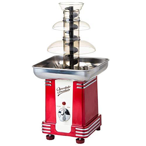 GuoEY Fuente de Chocolate, máquina de fusión de Chocolate, máquina de Mesa Retro de 3 Niveles, configuración de Calor y Motor, para Bodas, Fiestas de cumpleaños, hoteles