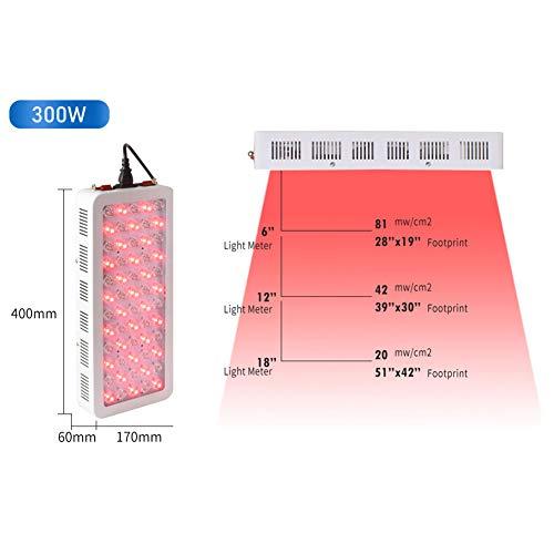 BTTHWR Rotlicht-Therapiegerät 300W 500W 1000W 1500W Rot 660nm LED-Lichttherapie 850nm Nah-Infrarot-Therapielicht für Haut, Schmerzlinderung, Anti-Aging, Muskelregeneration,300W