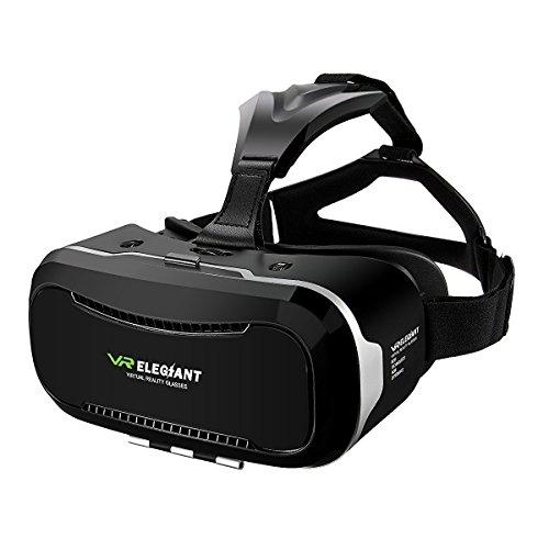 Casque VR, ELEGIANT Lunettes Réalité Virtuelle Headphone Headset 3D avec L'écran 4.0-6.0...