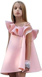 Girl's Dresses Ruffles Off Shoulder Sweet Princess Dress