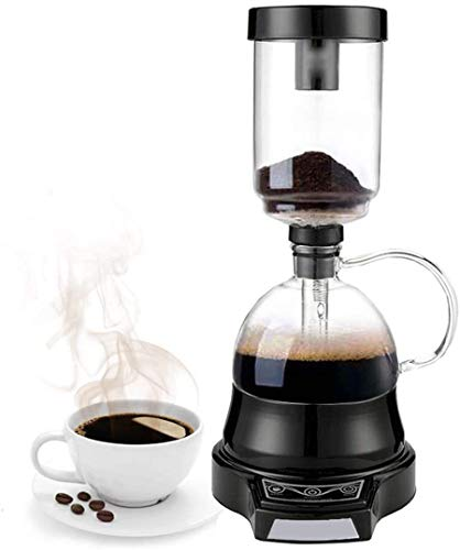 GWQDJ Elektrische Siphon-Kaffeemaschine Elektrische Siphon-Kaffeekanne-Siphon-Glas-Pot 400ml 220V Black