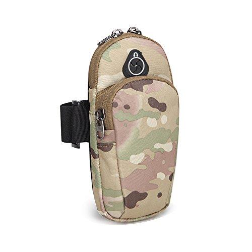 ECHERY Braccio del Sacchetto di Sport Fascia da braccio Universale per Telefono Cellulare Impermeabile Portafoglio Key Card Detentore di moneta Doppia Tasca Sweatproof Per il Telefono sotto i 4.5'-6'