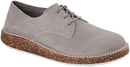 Birkenstock Unisex Gary Shoe, Light Gray Suede, Size 44 EU (11-11.5 M US Men)