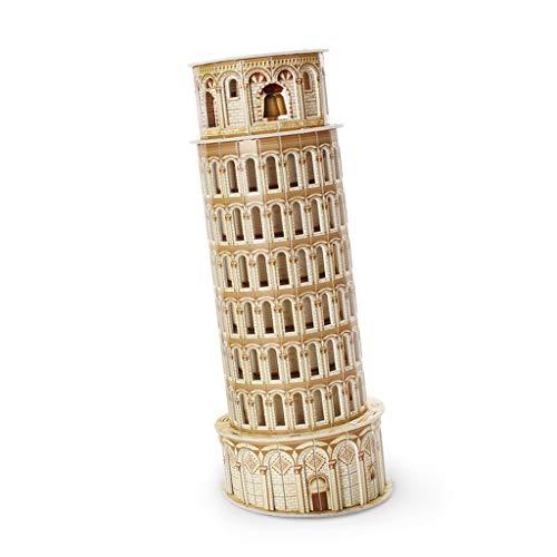 3D Driedimensionale Paper Model puzzel, Italiaans Scheve Toren Naam Building Model, Creative Kinderspeelgoed, Children's Educatief speelgoed (Color : A)