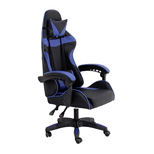RAC TLV-GC030-BLUE Silla Gaming PC Videojuegos Racing Oficina Escritorio Despacho Sillon Gamer, Negro - Azul