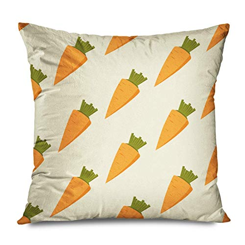 iksrgfvb Throw Pillow Cover 45x45CM Green Agriculture Orange Carrots Abstract Food Object Drink Carotene Carrot Color Succul
