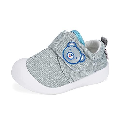 Zapatos Bebe Niño Primeros Pasos Zapatillas Deportivas Bebé Recién Nacido Gris, 21 EU (talla del fabricante 17)