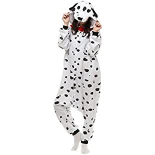 "Unisex Adult Animal Onesie Cosplay Costume Pyjamas Kigurumi Halloween Xmas Gift (Spotty Dog, L(Fit Height67""-70""/169-178cm)"