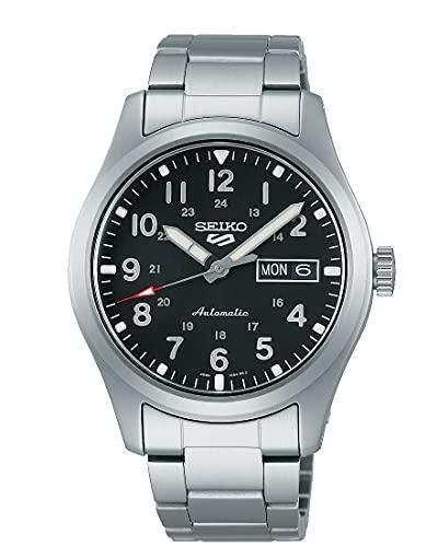 Seiko Herren Analog Automatik Uhr mit Edelstahl Armband SRPG27K1